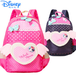 Disney/迪士尼 米妮幼儿园可爱女童学前班-1年级卡通女生双肩休闲书包TGML0038