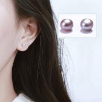 925银淡水珍珠耳钉女气质韩国个性耳饰耳环简约百搭迷你小耳骨钉