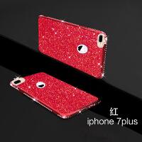 适用于苹果7plus手机壳8Plus七八全包7P抖音iPhone7薄套i8女款创意 苹果7plus 红色带钻 5.5寸