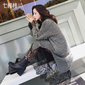 两件套女套装裙子韩版潮套头针织蕾丝毛衣连衣裙秋冬2017新款打底