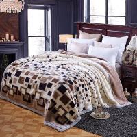 毛毯被子加厚双层单人宿舍学生冬季珊瑚绒毯子法兰绒午睡毯 200cm*240cm 加厚10斤