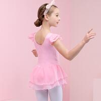 儿童舞蹈服雪纺女童练功服夏季短袖小女孩练舞服幼儿跳舞裙新款