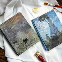 沐染 世界名画笔记本子 油画梵高莫奈星空手账本随身日记本记事本