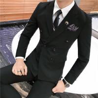秋冬季新品韩版修身单排扣西装套装男士西服三件套结婚礼服潮