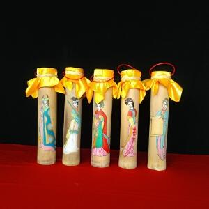 2015年 永顺 手工画布朗古茶 普洱茶生茶 500克/筒 3筒(颜色*)