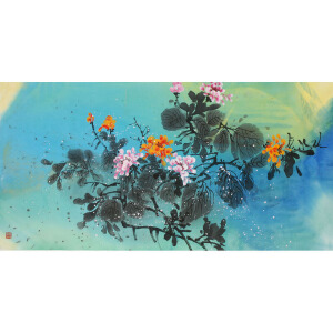 中国新幻彩创始人 李墨川《红高粱七》136cmx68cm