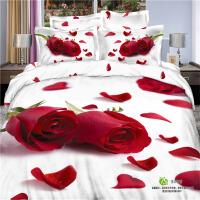 3d床单四件套全棉立体被套床笠款1.8m床双人欧式纯棉婚庆床上用品