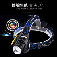 头灯 T6强光led充电户外远射探照灯变焦头戴手电筒钓鱼灯矿灯