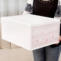 加厚抽屉式收纳箱衣柜衣服箱子有盖塑料透明大号衣物储物箱整理箱