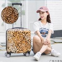 18寸卡通行李箱女可爱小型拉杆箱万向轮小清新迷你16寸旅行密码箱 18寸
