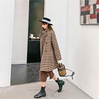 七格格毛呢大衣女韩版宽松2019新款冬季学生气质中长款外套上衣潮