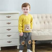 婴儿宝宝运动卫衣春款套装男童女童衣服两件套