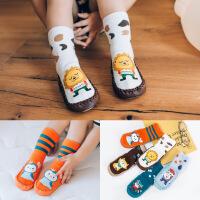 珈楚 秋冬季儿童地板袜防滑点胶加厚卡通全棉毛圈婴儿童宝宝学步袜软底