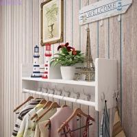 壁挂衣帽架实木玄关卧室门厅置物架墙壁免打孔创意挂衣架欧式落地