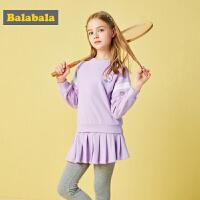巴拉巴拉童装女童秋装2018新款儿童两件套女童时髦套装运动裙装潮