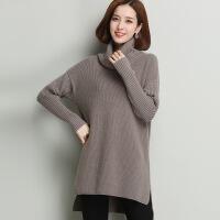 冬季新品女式羊毛 中长款纯色高领羊毛毛衣打底衫 百搭毛衣女现货