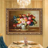 钻石画满钻卧室新款美式餐厅贴钻十字绣粘钻石画砖石绣百花争艳