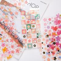 唯美小清新樱花纸质装饰贴纸DIY手账周边相册日记小贴画
