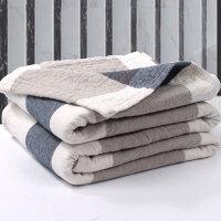 毛巾被毯纯棉加厚纱布水洗棉单人双人床单可铺可盖
