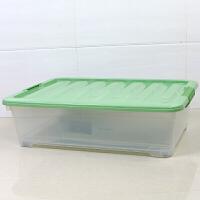 床底收纳箱扁平收纳盒大整理箱抽屉式塑料透明储物柜床下收纳箱子
