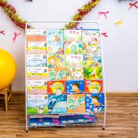 儿童书架铁艺书柜绘本架书架宝宝幼儿书报架展示架杂志架落地6层