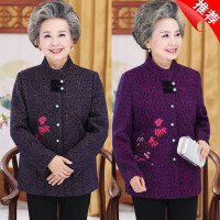 中老年人女装外套奶奶秋装唐装妈妈冬装60-70-80岁老太太春装上衣