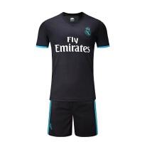 17-18皇马儿童球衣夏季短袖足球服套装男女童装球衣7号C罗儿童运动训练比赛球服