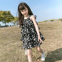 女童连衣裙夏装儿童装碎花吊带裙子