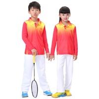 两件套儿童羽毛球服 T恤长袖套装男童女童乒乓球服网球服