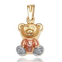 先恩尼 三色18k金吊坠小熊 XDJ18002 时尚K金项链 吊坠 玫瑰金