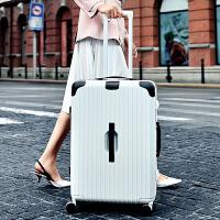 新款撞色行李箱女拉杆箱万向轮20寸旅行箱韩版复古超大29皮箱子男