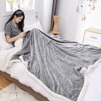欧式冬季双层加厚珊瑚绒毯子羊羔绒毛毯学生单人宿舍被子