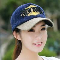 冬季韩版女士毛线帽子针织帽鸭舌帽嘻哈帽棒球帽男士潮韩国秋冬天