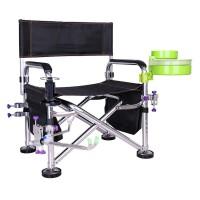 钓椅钓鱼椅子多功能铝合金折叠椅台钓椅带炮台架钓凳渔具