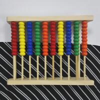 木制炫彩珠算架 益智学习架 色彩认知 数学启蒙好帮手