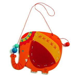 【特惠】Hape涂鸦收纳挂袋 大象 企鹅3-6岁绘画手工DIY创意益智游戏玩具