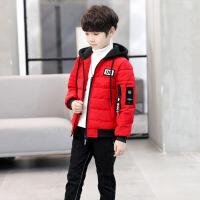 冬款背后印花时尚棉衣男童短款棉衣儿童韩版修身