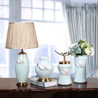 高档欧式陶瓷摆件 客厅家居田园装饰品摆件 花瓶套装样板间工艺品