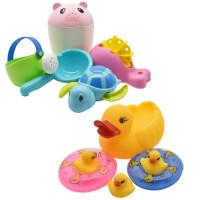 婴儿童洗澡玩具男孩女孩花洒水壶小黄鸭套装洗头杯宝宝戏水车沙滩