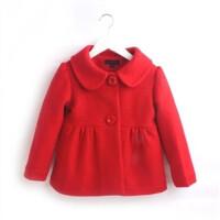 童装女童冬装2018新款韩版休闲呢大衣时尚儿童呢子外套女宝宝外套