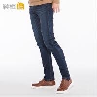 达芙妮集团鞋柜18春季OSWIN休闲牛皮男鞋系带商务鞋