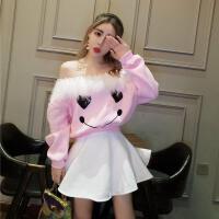 天天特价冬季可爱卫衣裙子两件套 时髦套装裙甜美上衣+蓬蓬裙短裙