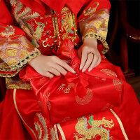 婚嫁用品包袱 结婚用品红包袱女方新娘陪嫁嫁妆红色套餐包裹布包袱皮婚礼