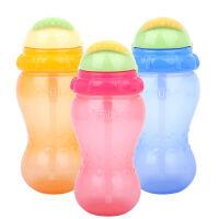 努比Nuby420ml防漏吸管水杯 宝宝水杯颜色随机