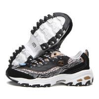 斯凯奇Skechers男女休闲鞋新款熊猫鞋豹纹情侣运动鞋99999833