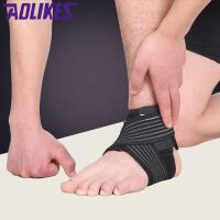 护踝运动护具夏季篮球足球扭伤防护脚腕护脚踝加压带男 加压款含绑带() M适合35-38码 默认发左右各一只