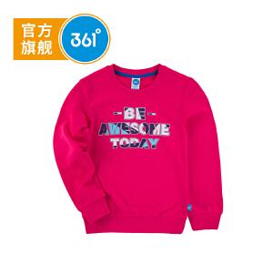 361度童装女童卫衣儿童套头卫衣2018年秋季儿童上衣T恤K61813304