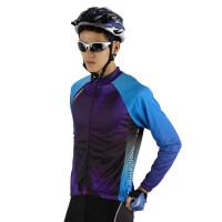 骑行服套装长袖硅胶男女薄款透气骑行服套装男款 春秋自行车骑行服 骑行服长袖套装