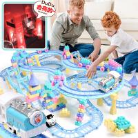 儿童积木轨道小火车套装男孩子3-4-6岁小孩玩具车
