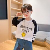 左西男童长袖T恤春秋儿童纯棉打底上衣中大童洋气童装2021新款潮